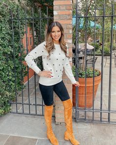 """𝒥𝓊𝓁𝒾𝒶𝓃𝓃𝒶 𝒵𝒶𝓋𝒶𝓁𝒶 on Instagram: """"My bobble sweater is 40% and back in stock! Yay!! My favorite boots are also 40% making them under $100! I cannot believe Christmas is one…"""" Its Cold Outside, I Can Not, My Favorite Things, Sweaters, Christmas, How To Make, Baby, Instagram, Fashion"""