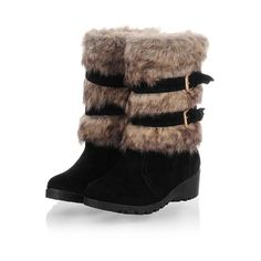 Charm Foot Fashion Faux-fur Womens Low Heel High Top Snow Boots * Check this awesome product by going to the link at the image.