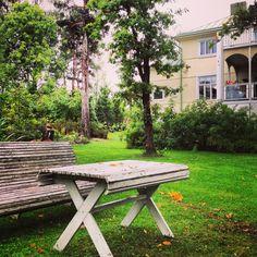 The garden of house Elegans in Lohja, Finland.