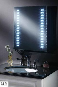 LED ILLUMINATED BATHROOM MIRROR DEMISTER / SHAVER / SENSOR -OPTICON & Pin by Garcia Dunne on Led bathroom mirrors with demister ...