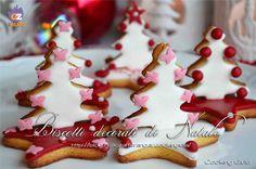 biscotti decorati | pasta di zucchero | alberelli di natale | biscotti di natale | biscotti natalizi