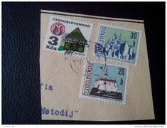 RARE 1973 Czechoslovakia 3 Ksc30H/20H CECHY MELNICKO/KOSICE/MITRA RECOMMENDET LETTRE ON PAPER COVER USED SEAL - Czechoslovakia