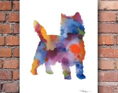 Cairn Terrier Print  Cairn Terrier Silhouette by ShapeofLove