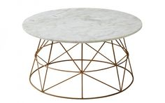 Klein Coffee Table Copper/Marble $576.75 from OzDesign Furniture