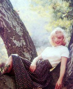 Marilyn Monroe, fotografiada por Milton Greene, 1953