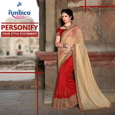 Personify your style statement with extra ordinary creations from Ambica Fab Design. -- For more details contact us on: 99799-00476 | www.ambicasurat.in #SareesInAmbica #SareesCollection #FashionableSarees #AmbicaCollection