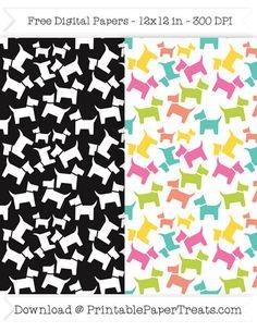 Dog Pictogram Digital Papers