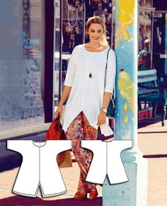 Frogs in a Bucket: Burda Style 07-2015-127 and 06-2013-144- A Big Shirt and Slim Pants