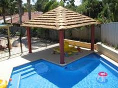 Image result for back yards with pools