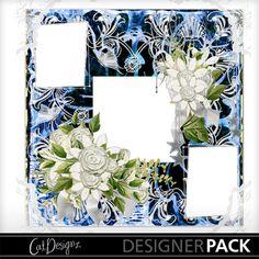 Digital Scrapbooking Kits | Summer Blue Quickpage-(CatDes) | Decorative, Family, Love, Weddings | MyMemories