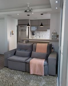 Apartment Interior, Apartment Design, Appartement Design Studio, Living Room Designs, Living Room Decor, Studio Apartment Layout, Open Plan Kitchen Living Room, Decoration Inspiration, House Rooms