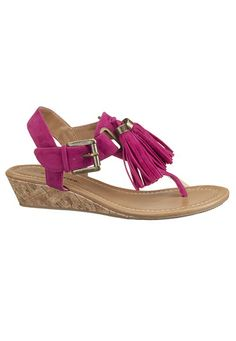 Super cute tassel small wedge sandals from Maurices.