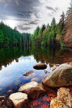 Serenity, Colliery Dam, Nanaimo BC, Canada photo via bridgett All Nature, Amazing Nature, Beautiful World, Beautiful Places, Beautiful Scenery, Canada Vancouver, Vancouver Island, Photos Voyages, Beautiful Landscapes