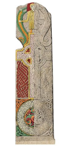 Scotland's carved Pictish stones re-imagined in colour - BBC News Celtic Symbols, Celtic Art, Celtic Paganism, Pictish Warrior, Islamic Art Calligraphy, Calligraphy Alphabet, Celtic Culture, Celtic Dragon, Historical Maps