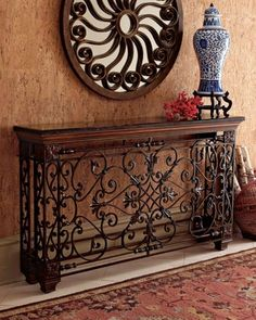 Wrought Iron Console. Ideas for Tuscany decor.