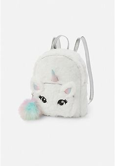 Justice is your one-stop-shop for on-trend styles in tween girls clothing & accessories. Shop our Unicorn Faux Fur Mini Backpack. Girly Backpacks, Cute Backpacks For School, Cute Mini Backpacks, Stylish Backpacks, Backpacks For Girls, Justice Backpacks, Justice Bags, Unicorn Fashion, Unicorn Outfit
