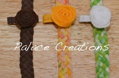 5 strand braided upcycled tshirt headband with by PalaceCreations