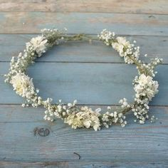 Boho Purity Dried Flower Crown - hats, hairpieces & hair clips