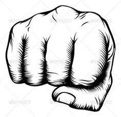 GraphicRiver Hand in Fist Punching from Front 3305581