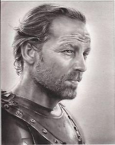Game-of-Thrones-Jorah-Mormont-ART-CHARCOAL-DRAWING-8X10-034-ORIGINAL