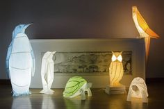 OWL paperlamps is a design brand created in 2016 in Lisbon, Portugal. Inspired by the origami art of folding paper figures, they combine modelling with illumination to design original papercraft lamps. Whether your OWL paperlamp is lit or turned off, it will certainly... #animal #diy #lamp #origami