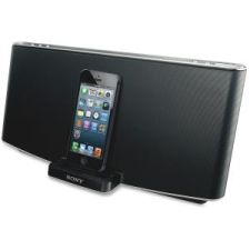 "Product Detail for SONRDPX200IPN: Speaker Dock, f/ iPad/iPhone/iPod, 6-3/5""x19""x9-1/3"", BK"