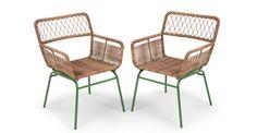 Lyra, set de chaises, vert