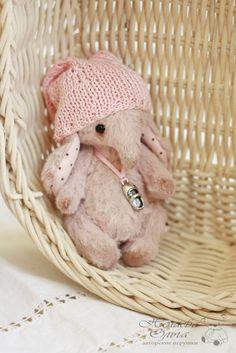 Купить мини слоник Буся (9см.) - бледно-розовый, слон, слоник, слоник тедди