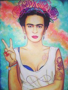 Frida Kahlo art                                                                                                                                                                                 Más