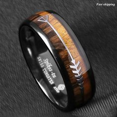 Black Mens Tungsten Carbide ring Red Wood Inlay Wedding Band mens jewelry - Wood Rings - Ideas of Wood Rings - 10 The post Black Mens Tungsten Carbide ring Red Wood Inlay Wedding Band mens jewelry appeared first on Awesome Jewelry. Engagement Ring Settings, Diamond Engagement Rings, Wedding Engagement, Black Tungsten Rings, Tungsten Carbide Wedding Bands, Bracelet Cuir, Wood Rings, Wedding Men, Wedding Suits