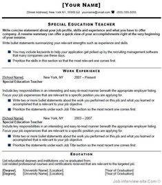 special education teacher resume sample page 1 special - Special Education Resume Samples