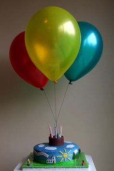 I love the idea of the helium balloons