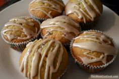 Glazed chocolate chip banana muffins recipe