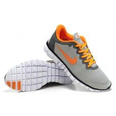 Autentisk Nike Free 3.0 V2 Mann lumièreGrise Oransje Hvit i Frankrike{rKXuHA}