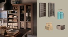 Hemnes bookcase and glass-door cabinet from Ikea. $470