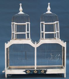Large double-domed vintage birdcage