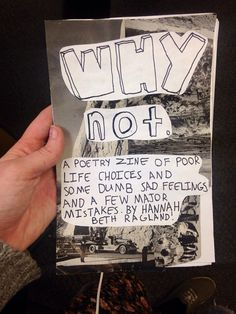 WHY NOT poetry zine by Allmymetaphors on Etsy