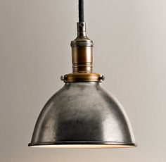 BAYCHEER Industrial Vintage Style Rustic Chandelier Pendant Light Hanging Lamp Celling Lights Fixture with Dome Shade for Indoor Bar Cafe Hallway Use 1 Bulb in Silver