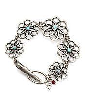Carved Flower Turquiose Bracelet                                                        $35.00