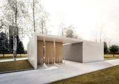 competition project of public toilet in Płock, Poland; projekct: Marcin…