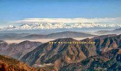 Mighty Himalayan Range from View Point  or  Himalayan Darshan Nainital