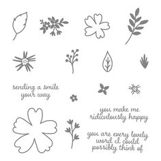 Love & Affection Photopolymer Stamp Set by Stampin' Up!