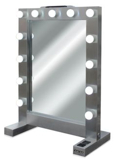 This is our Professional Hollywood Table Top Mirror PT-920. Professional grade, with stainless steel. Great for use in salons, makeup academies etc.