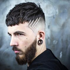 Textured Crop + Skin Fade + Hair Design new hairstyle for men