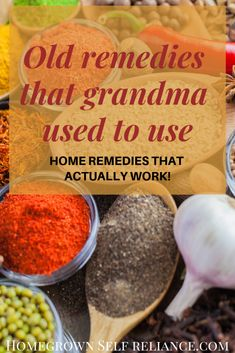 Grandma's old remedies that actually work! Look to the past for great tips on caring for common ailments. These 15 old remedies actually do work! Health 15 Old Home Remedies That Actually Work Natural Health Remedies, Natural Cures, Natural Healing, Herbal Remedies, Natural Foods, Natural Treatments, Holistic Healing, Natural Skin, Holistic Remedies