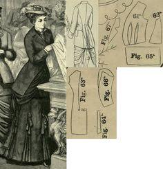 Mody paryzkie 1879.: Autumn coat.