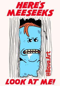 Rick and Morty,Рик и Морти, рик и морти, ,фэндомы,Rick and Morty персонажи,mr. meeseeks,Rick and Morty art,R&M crossover,Rick and Morty crossover, R&M кроссовер,Сияние