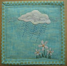 Zakka Style: Rain Cloud Mug Rug by satuylamaki, via Flickr