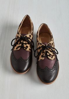 Worth Your Wild Flat by Dolce Vita - Black, Purple, Tan / Cream, Solid, Animal Print, Safari, Statement, Colorblocking, Best, Lace Up, Leather