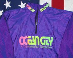 Vintage Surf Style Suit Size Medium Jacket Windbreaker Pants